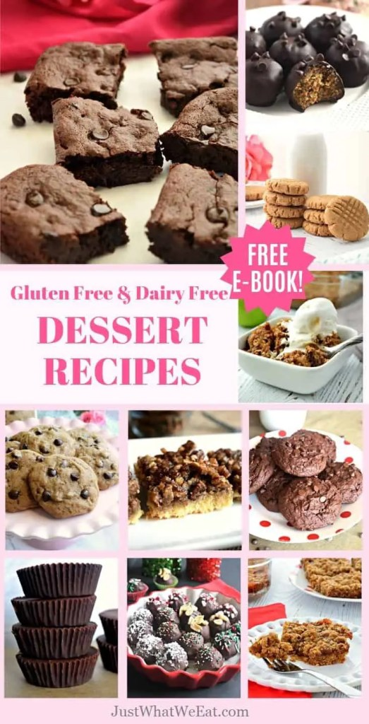 These Gluten Free and Dairy Free Dessert recipes taste amazing! Cookies, Brownies, and more recipes that the whole family will love! #glutenfree #dairyfree #dessert #recipes #easy