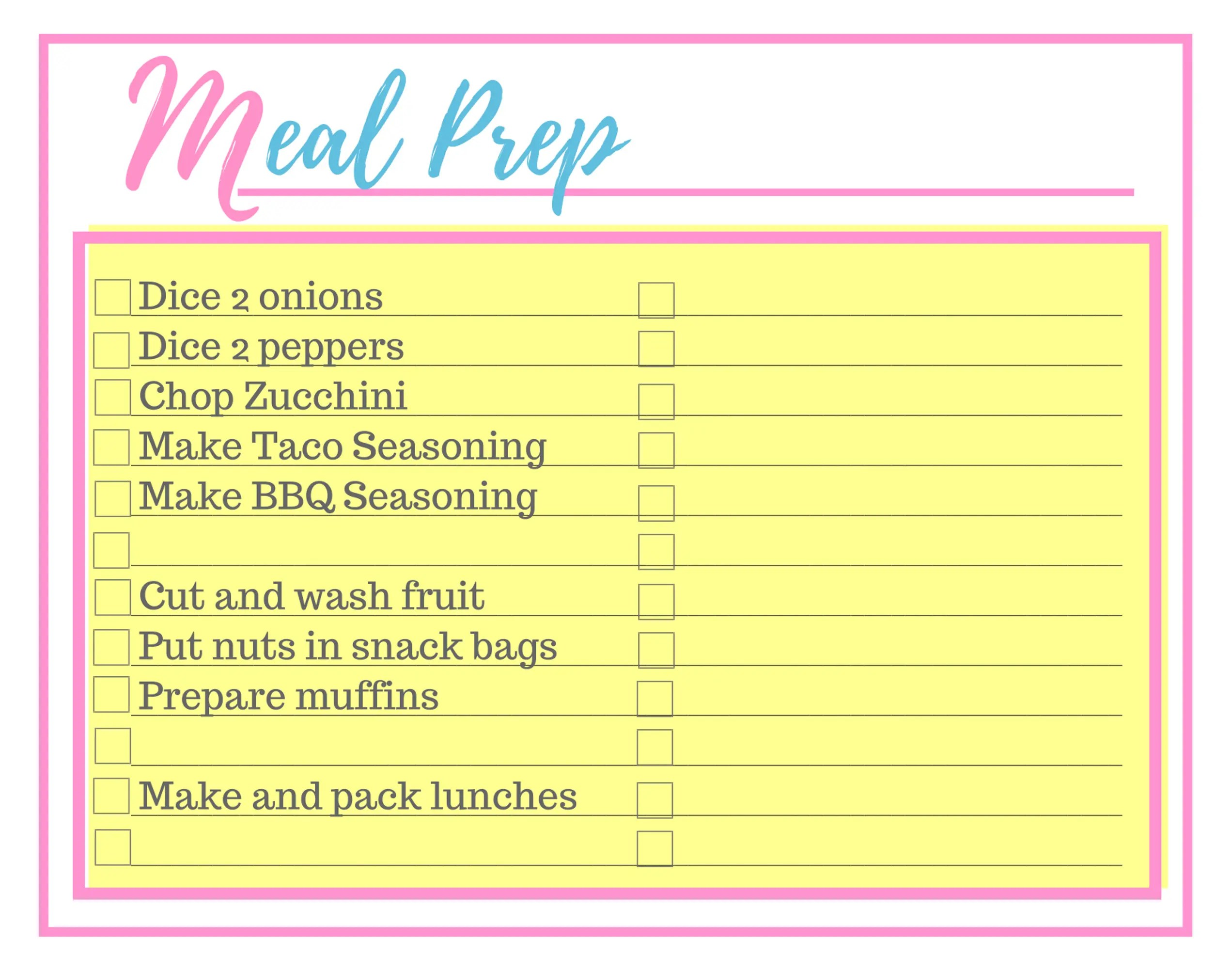 3 Step Easy Meal Planning