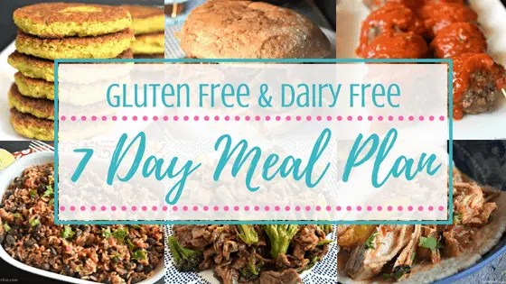 Free gluten free & dairy free meal plan subscribe