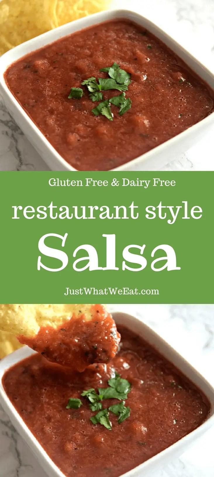 Restaurant Style Salsa - Gluten Free & Dairy Free