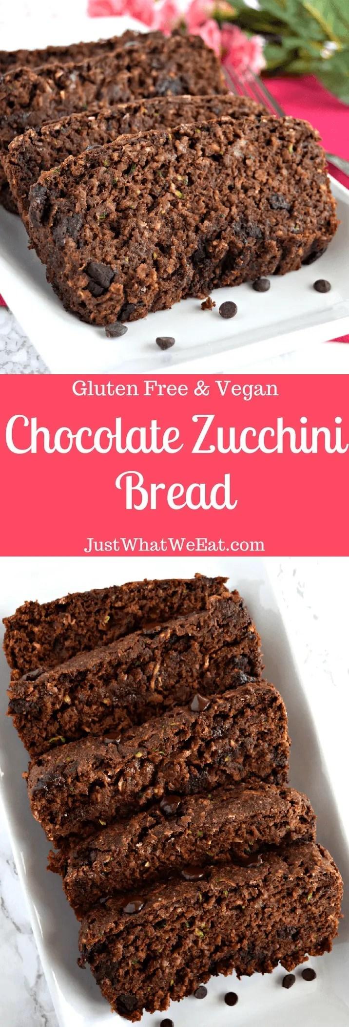 Chocolate Zucchini Bread - Gluten Free & Vegan