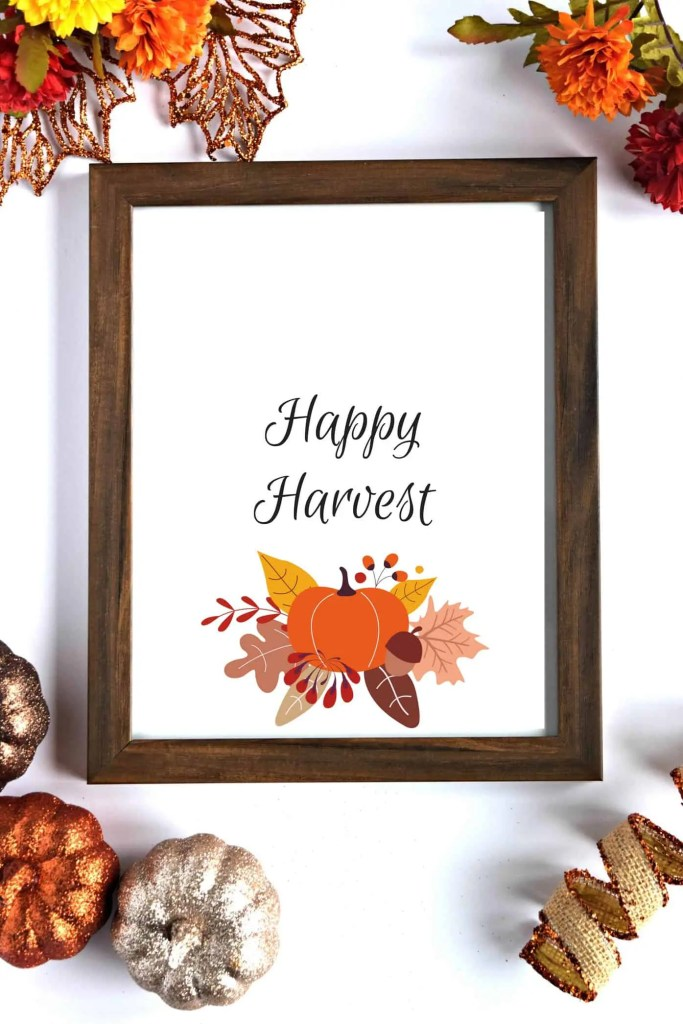 Happy Harvest Fall Printable