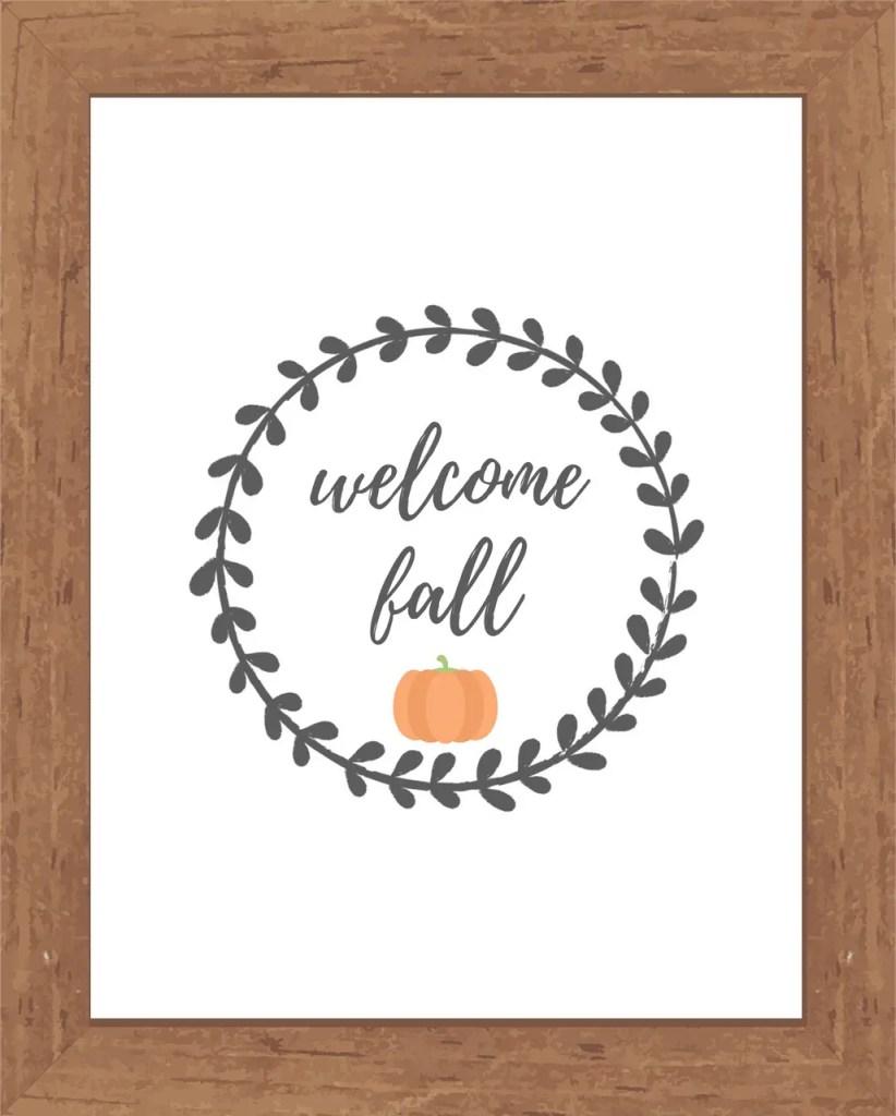Welcome Fall Printable Wall Decor