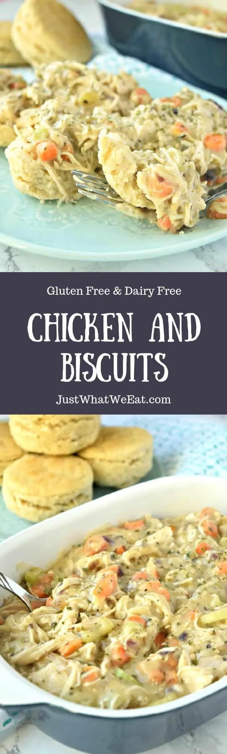Chicken and Biscuits - Gluten free & Dairy Free