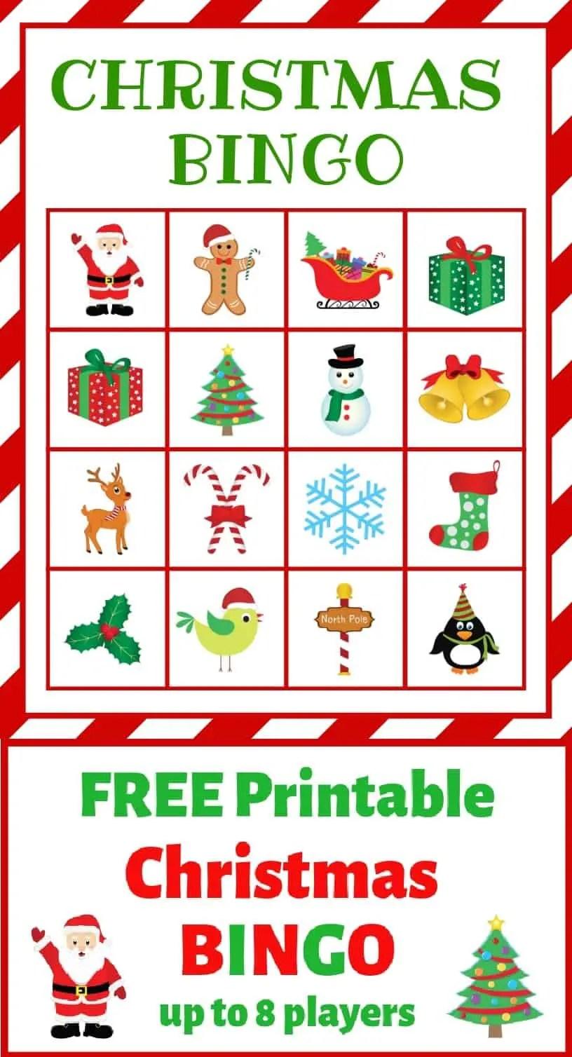 Free Printable Christmas BINGO