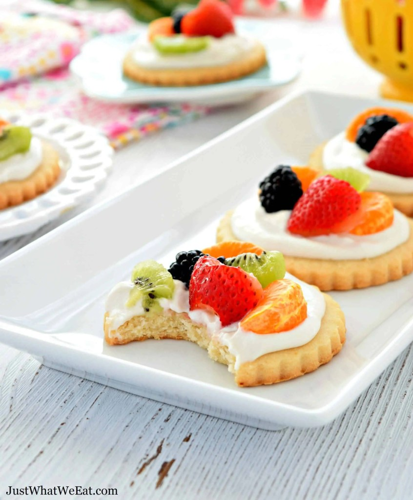 Gluten Free Vegan Dairy Free Mini Fruit Pizzas