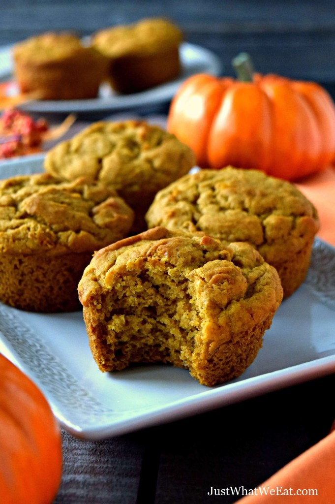 These Pumpkin Muffins are the perfect Fall breakfast treat! They are gluten free, vegan, nut free, and taste amazing! #glutenfree #dairyfree #vegan #nutfree #muffins #fall #recipes