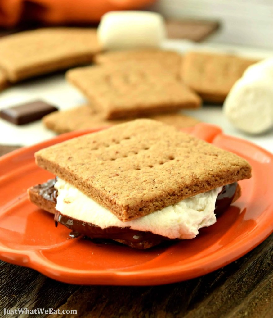 You have got to make these gluten free and vegan S'mores this Fall! The graham crackers taste wonderful and who knew it was so easy to make chocolate bars!? I can't wait to make more at our next bonfire!