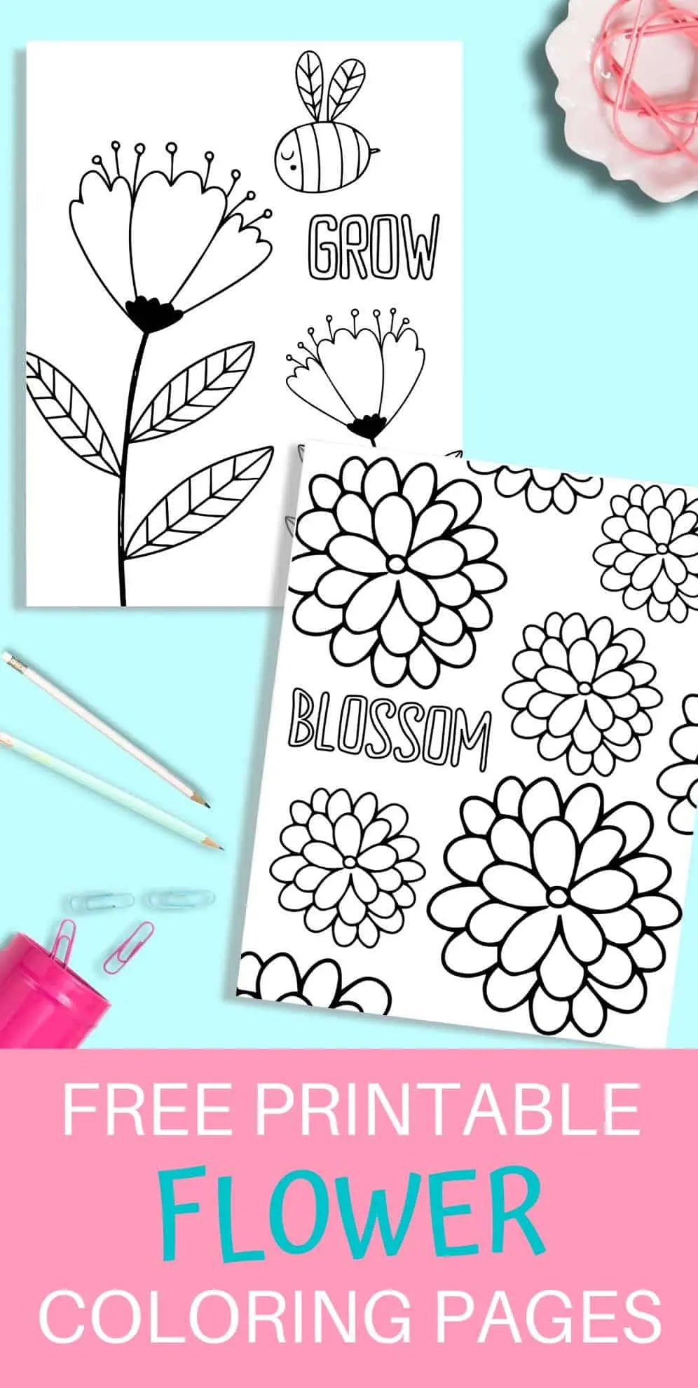 Printable Flower Coloring Pages Just What We Eat