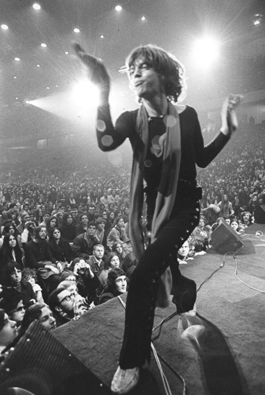 Mick Jagger, very much in touch with his camp side