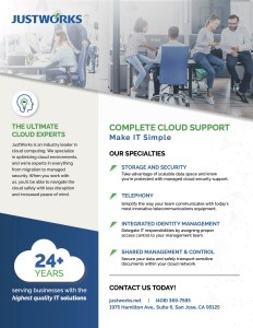 JustWorks - complete cloud support
