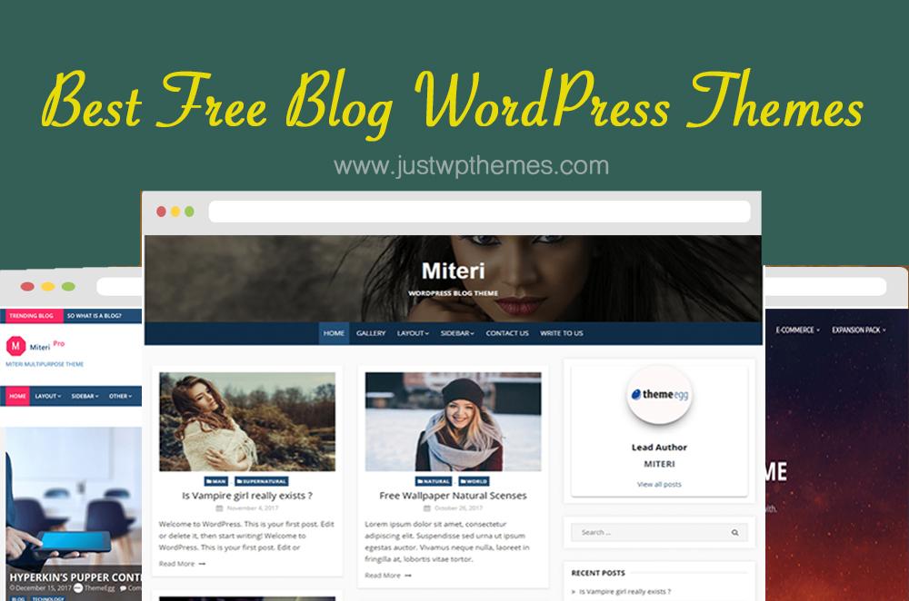 50+ Best Free Blog WordPress Themes - JustWpThemes