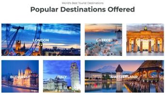 Popular destination section