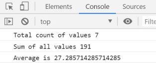 average function in Javascript