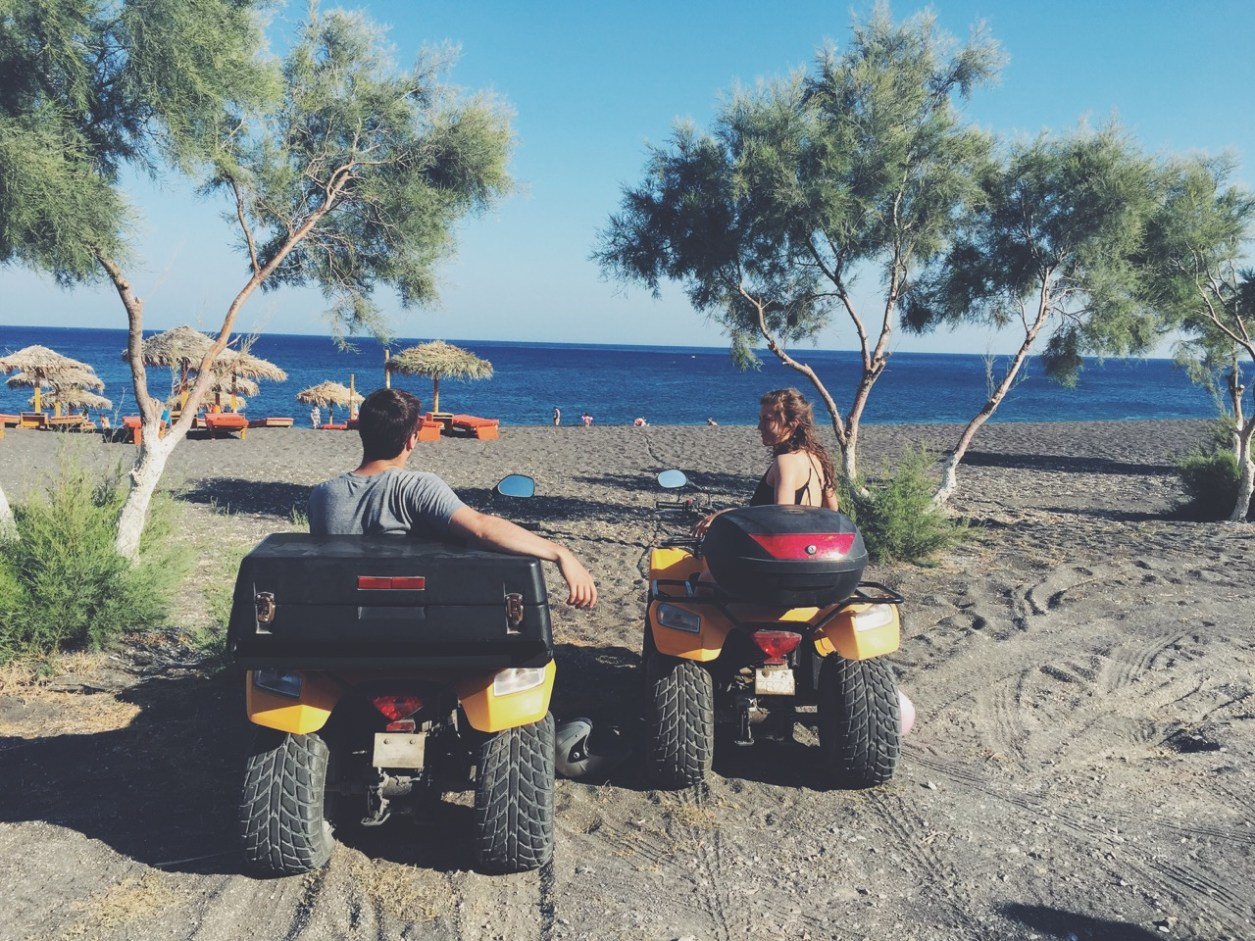 ATV ing throughout the beautiful island of Santorini