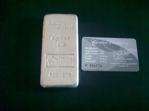 Silver bar PG 1kg yang pertama