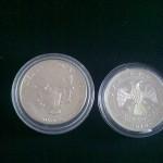 1 oz silver coin dari US dan Rusia
