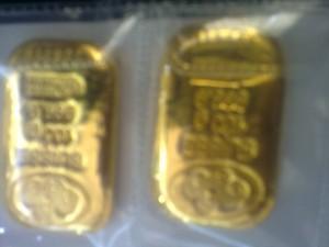 Emas pertama saya:Pamp Suisse 100g,dibeli awal tahun 2009,sekitar rm12k