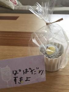 手作りショコラシフォンケーキ&娘からパパに手紙