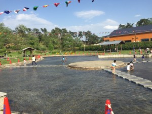 京都府立丹波自然公園 水遊び