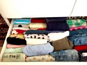 子供服を季節やサイズ毎に分かりやすく収納