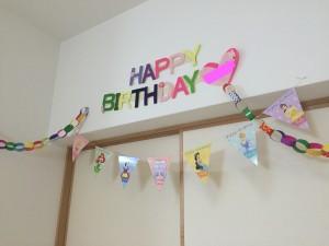 5歳娘の誕生日パーティー 飾りつけ