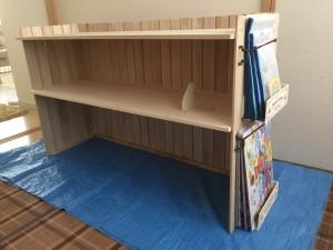 おもちゃの棚をすのこを使って手作り