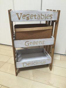 100均すのことウッドボックスで野菜ストッカーを手作り