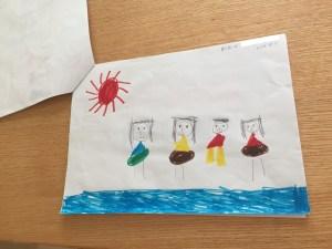 5歳娘が書いた夏の思い出 プール
