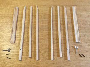 ダイソー 木製イーゼルをバラバラ