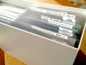 クリアファイル 取り扱い説明書 無印 収納 テプラー