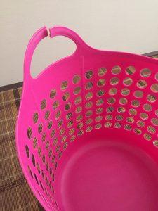 franc franc 洗濯カゴ ピンク 壊れた