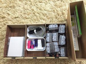 プリンターで使用する用品の整理方法 プリンターインク USB 写真用紙 収納