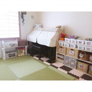 和室 おもちゃ DIYした棚ですっきり収納