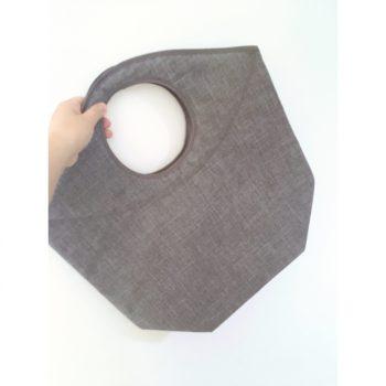 手提げみたいなランドリーバッグ 洗濯カゴ 折りたためて便利 省スペース カインズホーム ランドリーボックス グレー