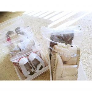 シューズクローク くつ 収納 整理 子供の靴 子供靴 子供シューズ カラーボックス カラーボックス活用 3コインズ 傘の収納 傘