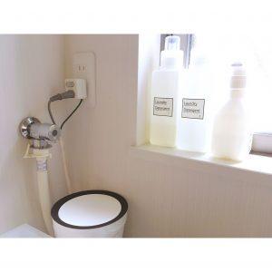 コンセント 節約タップ コンセント隠し 100円 100均 手作り 木製 コードの整理 ケーブルボックス 配線整理 配線すっきり コードすっきり ダイソー セリア DIY 手作り 洗濯機の配線整理 節約タップ使用 洗面所