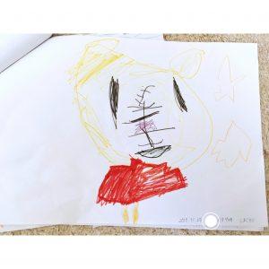 3歳の娘 娘が描いた絵 しまじろう 子供の描いた絵の保管方法 収納 整理