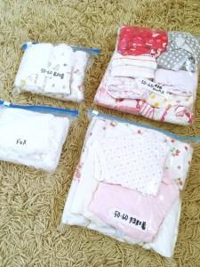 子供服 ベビー服 分類 整理整頓 整理 収納 サイズアウトした服 保管方法 サイズや種類ごとに分けると使いやすい 三姉妹ママ 入院準備 ブログ