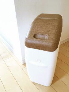 におわなくてポイ アップリカ 消臭オムツ捨て カートリッジ 消臭オムツ捨てボックス オムツ捨てゴミ箱 オムツ捨てケース リメイクシート 100均 ダイソー DAISO 簡単リメイク インテリア壊さない