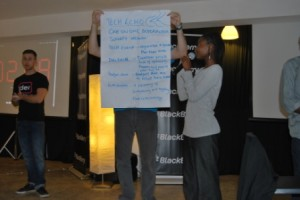 kweli mukeli winner best app shows off her wireframe at blackberry hackathon nairobi