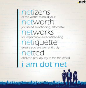 i am a dot net afriregister campaign poster