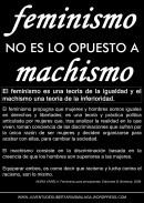 feminismo no es lo opuesto a machismo