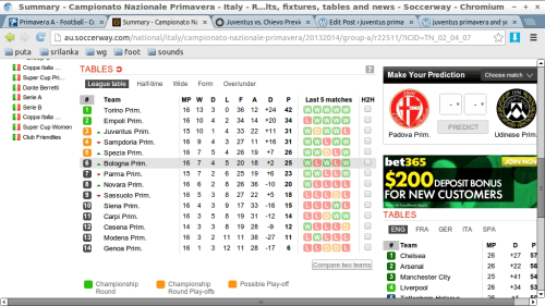 Premier league results fixtures tables and news soccerway - Italian league fixtures and table ...