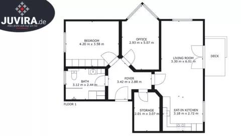Juvira.de | Skizzenzeichnung eines Grundriss