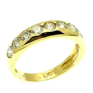 exclusieve 18 karaat gouden ring met diamant