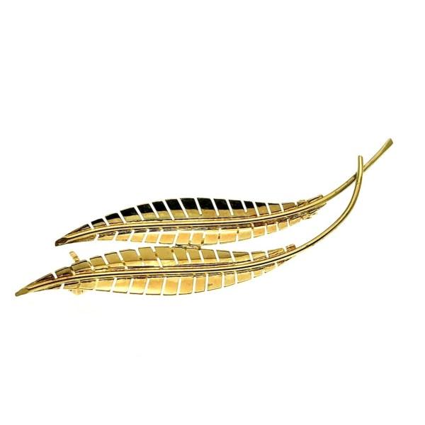 gouden broche veren