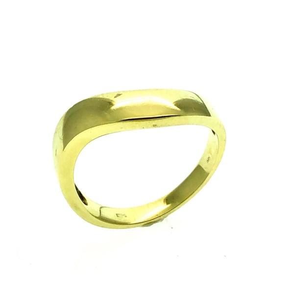 gouden golvende ring