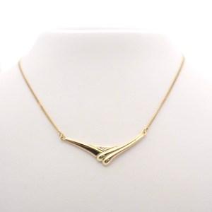 gouden ketting vaste hanger
