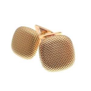 gouden geribbelde manchetknopen
